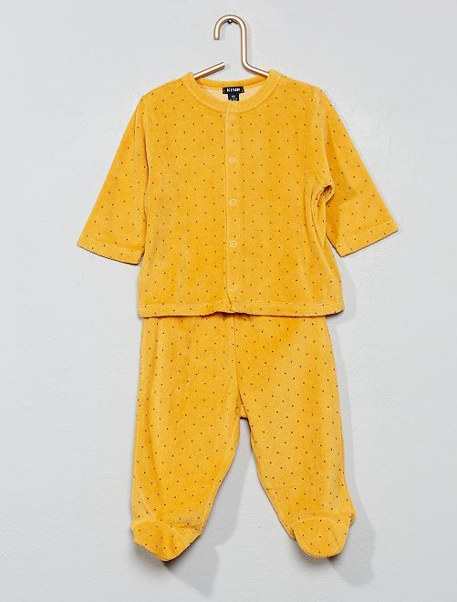 Pyjama velours 'éco-conception'                                                                                         jaune