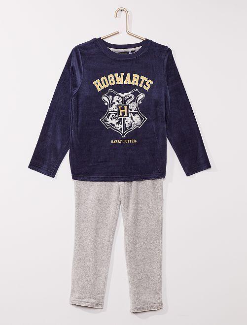 Pyjama velours 'Harry Potter'                             bleu marine