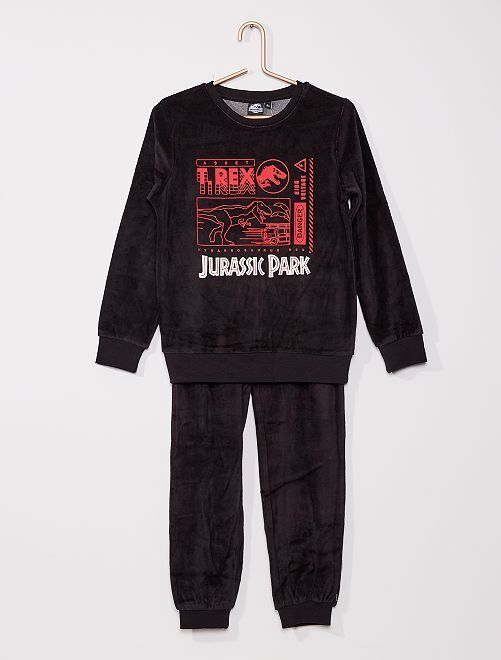 Pyjama velours 'Jurassic Park'                             noir