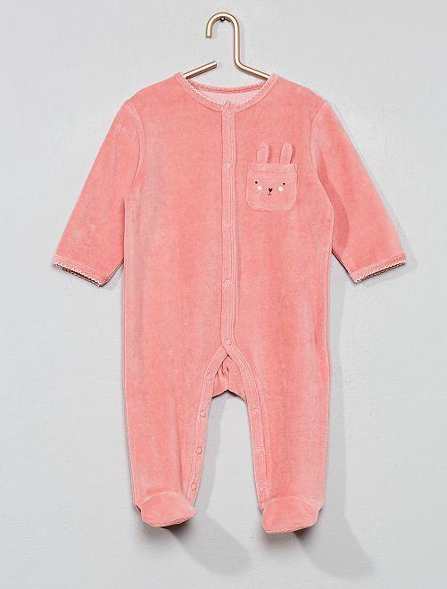Pyjama velours 'lapin'                                                     rose