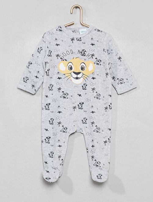 Pyjama velours 'Le Roi Lion'                                                     gris