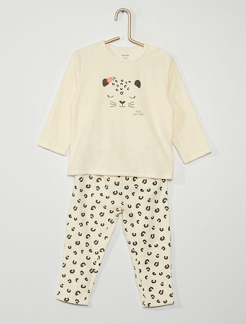 Pyjama velours 'léopard'                                                                                         beige