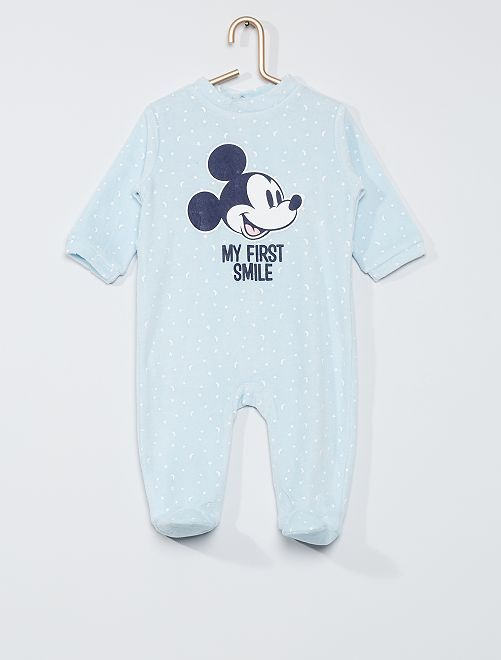 Pyjama velours 'Mickey'                     bleu ciel