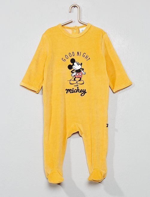 Pyjama velours 'Mickey'                                         jaune Bébé garçon