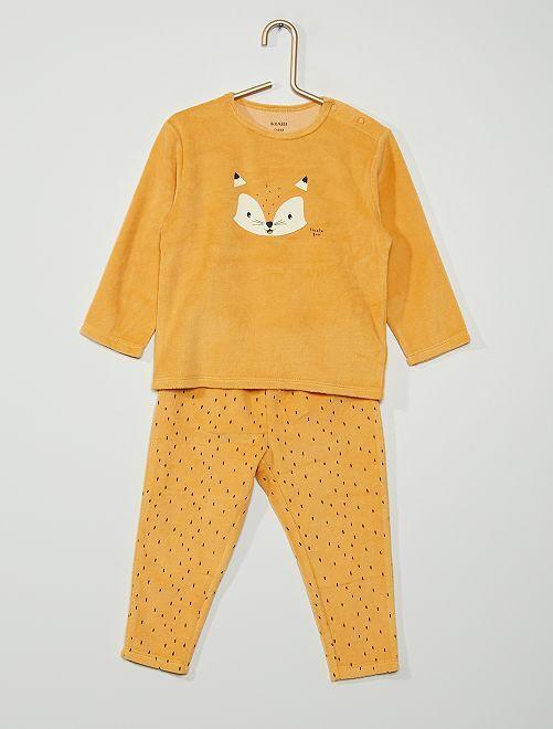 Pyjama velours 'renard'                                                                                         orange