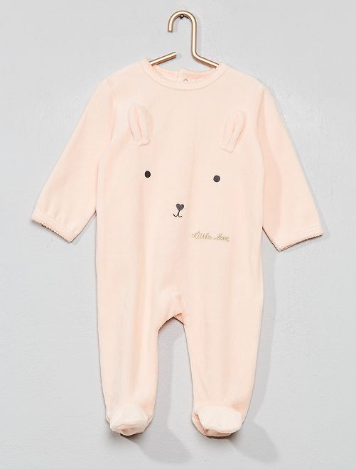 Pyjama velours                                                                             rose/corail Bébé fille