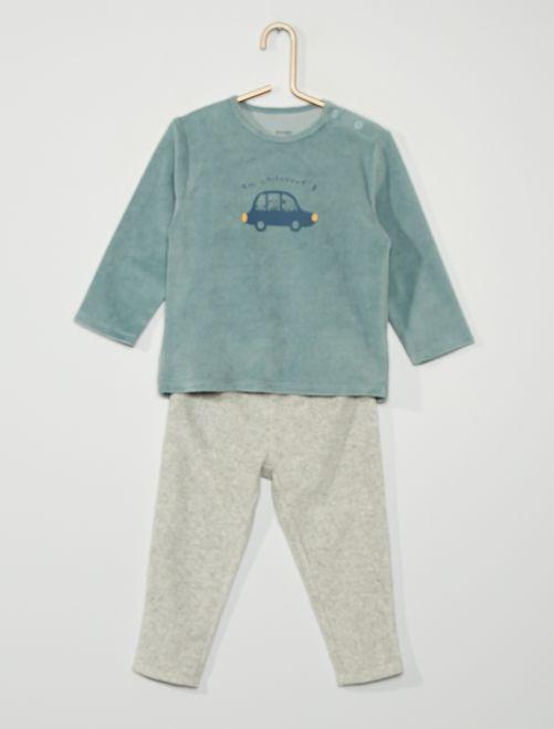Pyjama velours 'voitures'                                                                                         bleu