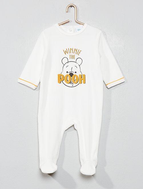 Pyjama velours 'Winnie l'ourson'                                         blanc Bébé garçon