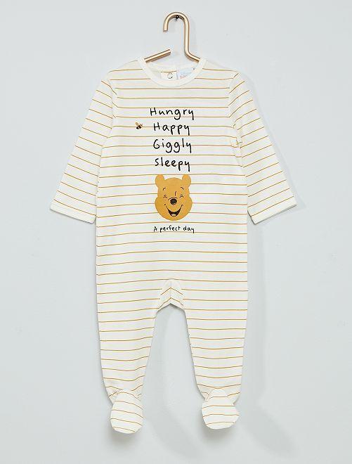 Pyjama 'Winnie l'Ourson'                                                                 blanc rayé