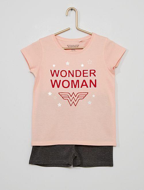 Pyjama 'Wonder Woman'                             rose/gris