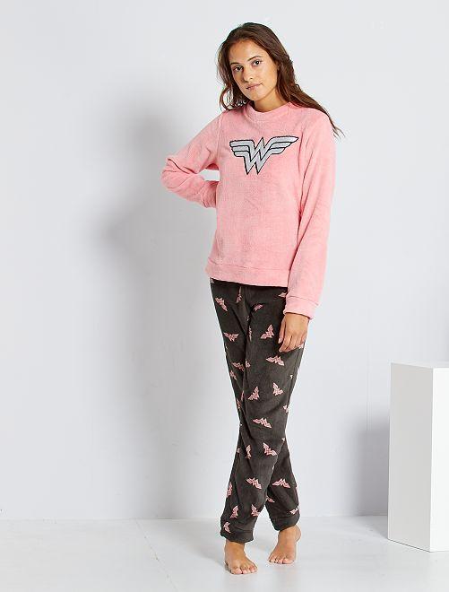 Pyjama 'Wonder Woman'                                         rose/gris foncé