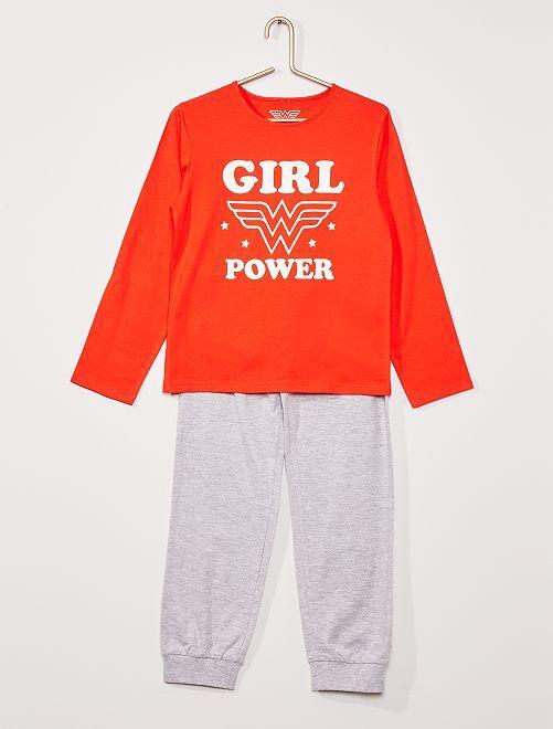 Pyjama 'Wonder Woman'                             rouge/gris