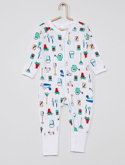 Pyjama zippé 'DIM Baby'                                         blanc