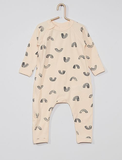 Pyjama zippé 'DIM'                             crème