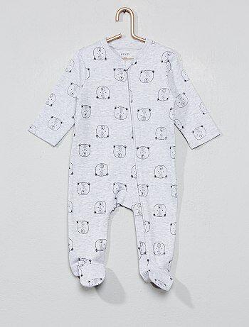 92b2513c227bc Pyjama Vêtements bébé | gris | Kiabi