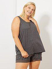 Pyjamas Grande Taille Femme Kiabi