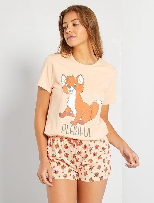 Pyjashort 'Disney'                                                                 orange pâle