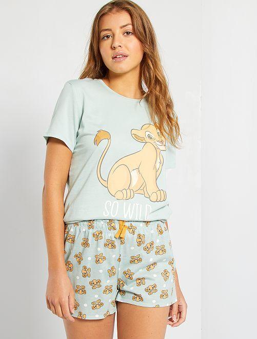 Pyjashort 'Simba'                                                                 vert d'eau