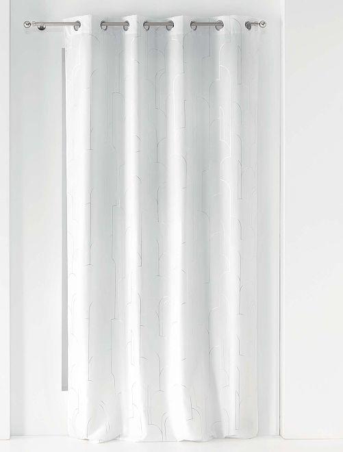 Rideau à œillets                             blanc/argent