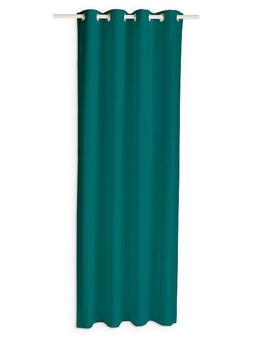 Rideau à oeillets                                                                                                                                                                  vert émeraude Linge de lit
