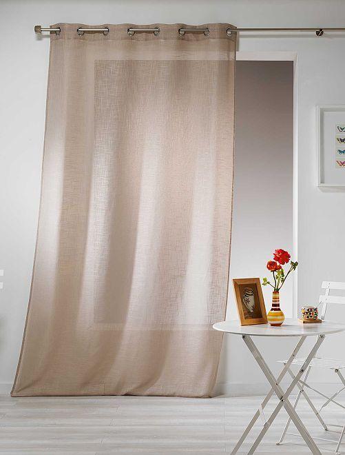 Rideau effet lin                                                                                                                 beige Linge de lit