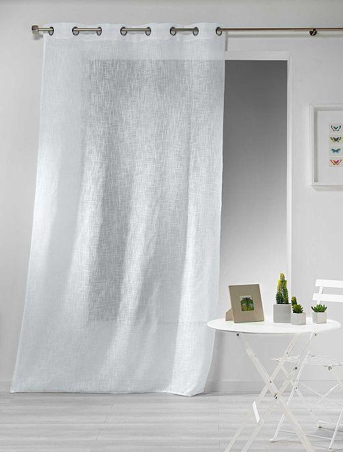 Rideau effet lin                                                                                                                 blanc Linge de lit