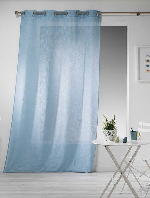 Rideau effet lin                                                                                                                 bleu ciel Linge de lit