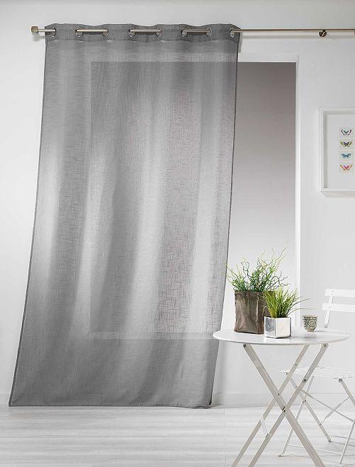 Rideau effet lin                                                                                                                 gris Linge de lit
