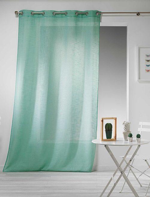 Rideau effet lin                                                                                                                 vert Linge de lit
