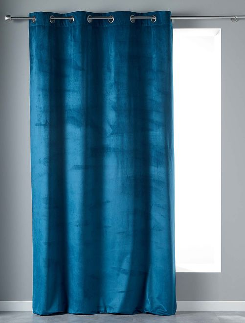 Rideau en velours                                 bleu