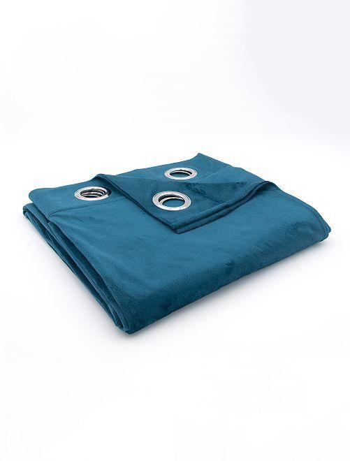 Rideau isolant velours                                                                             bleu