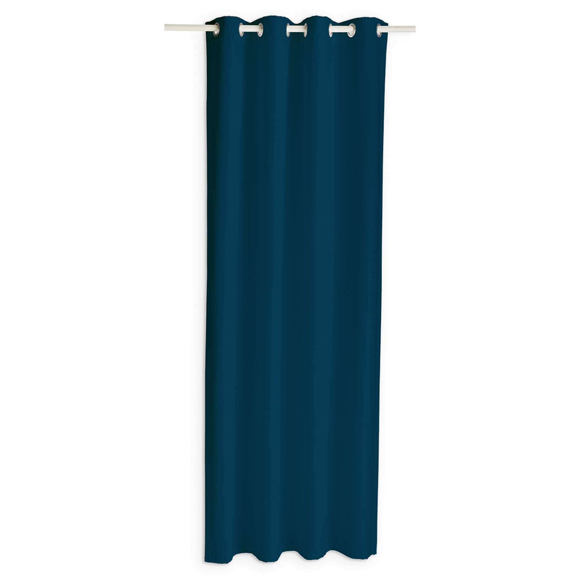 rideau occultant linge de lit bleu marine kiabi 19 99. Black Bedroom Furniture Sets. Home Design Ideas