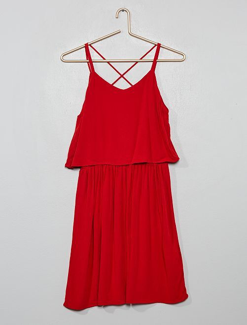 Robe 2 en 1                                         rouge