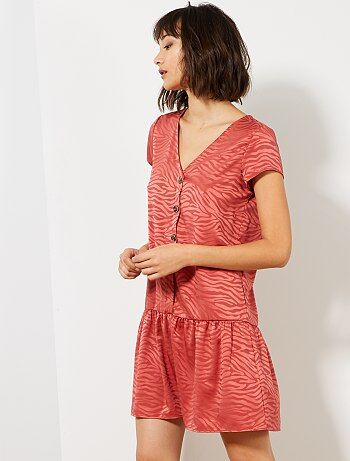 a0baa738b63d8 Robe courte - robe de soirée, mini-robe imprimée Vêtements femme   Kiabi