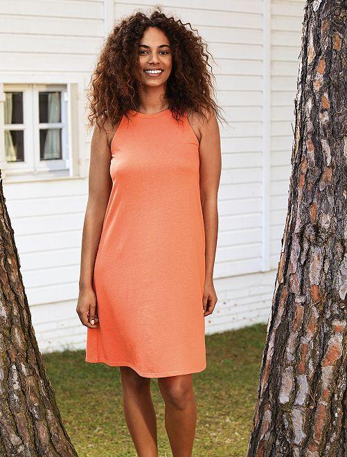 Robe à emmanchure américaine                                                     orange corail Femme