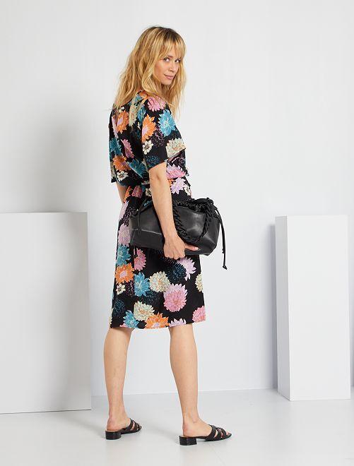 Robe à fleurs 'JDY'                                                     noir