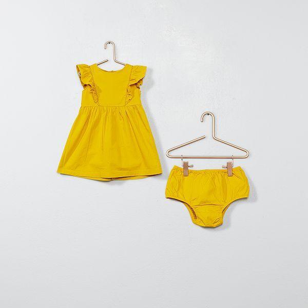 Robe A Volants Et Culotte Bebe Fille Kiabi 10 00