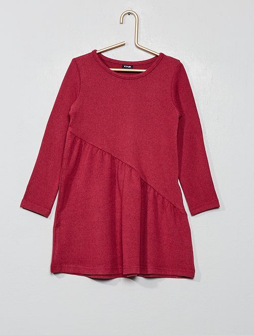 Robe asymétrique en maille                                                                 violet