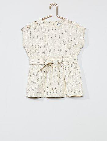 Robe avec ceinture à nouer