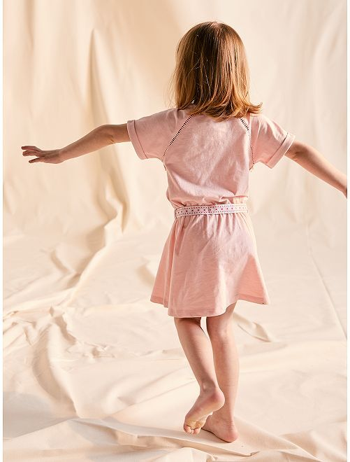 Robe avec ceinture                                                                                         rose Fille