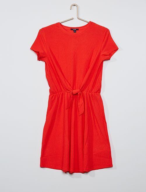 Robe avec nœud                                         rouge