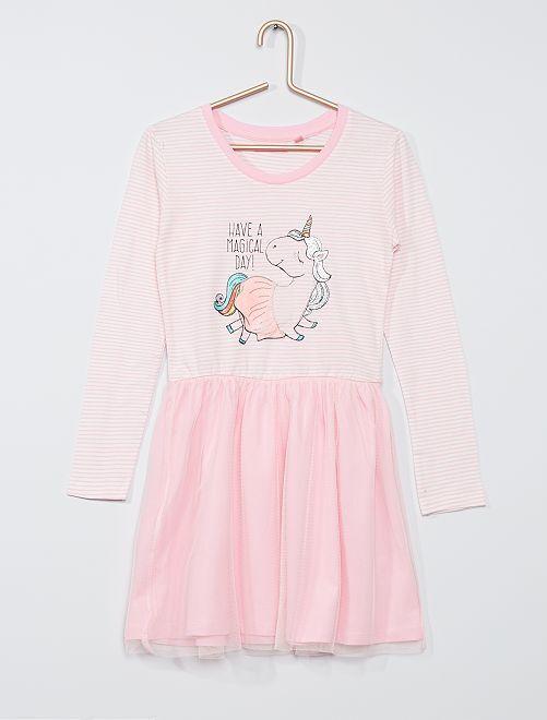Robe avec tulle 'licorne'                                         rose