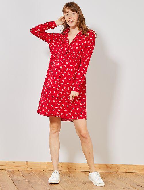 6e94ac9376 Robe babydoll de grossesse Femme - rouge - Kiabi - 20,00€