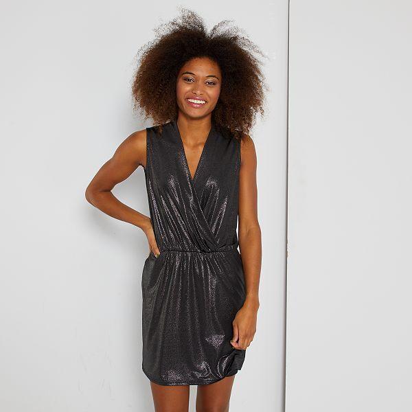 Robe Brillante Femme Noir Kiabi 22 00