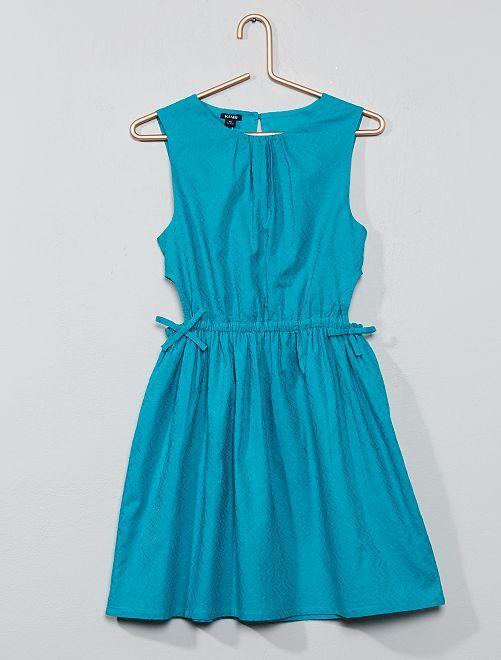Robe brodée ajourée                                                     bleu vert Fille