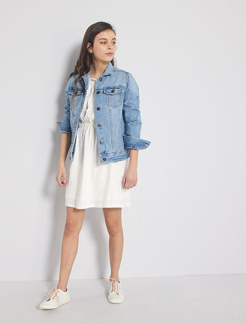 Robe broderie anglaise                     blanc