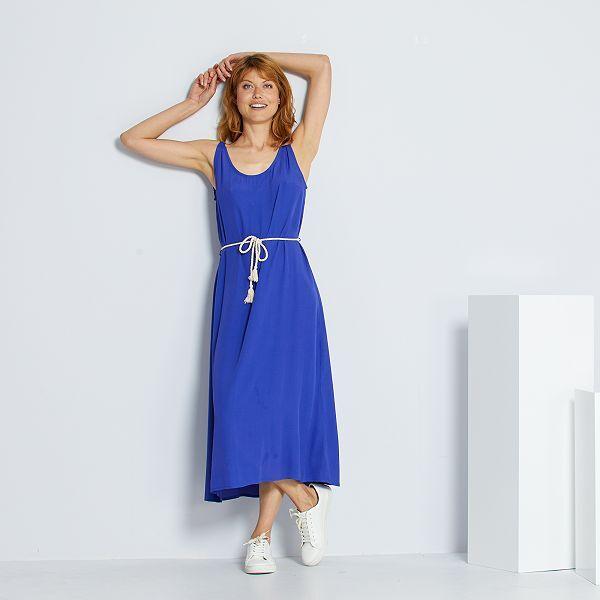 Robe Ceinture Cordelette Femme Bleu Kiabi 14 00