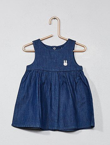 Robe chasuble en denim - Kiabi