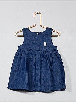 Robe - Robe chasuble en denim - Kiabi