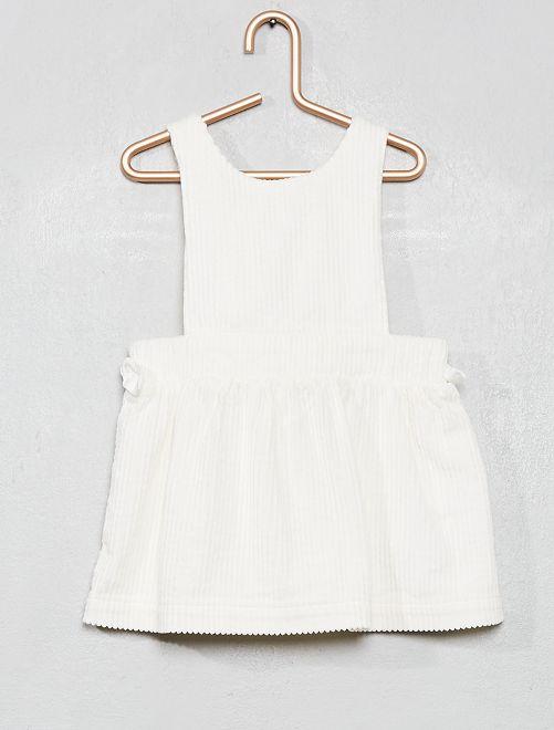 Robe chasuble en velours                                         blanc